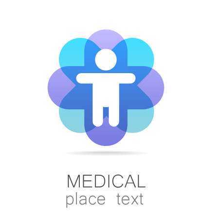 Medical logo - il concetto per segno un istituto medico, un centro, fondazione, ente, associazione, ospedale. Archivio Fotografico - 43026415
