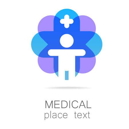 saludable logo: Insignia médica - el concepto de signo de una institución médica, centro, fundación, organización, asociación, hospital.