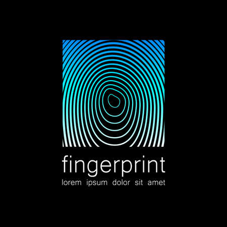 preservation: Fingerprint - the template for a logo. Symbol fingerprint - a sign of identification, preservation and protection.