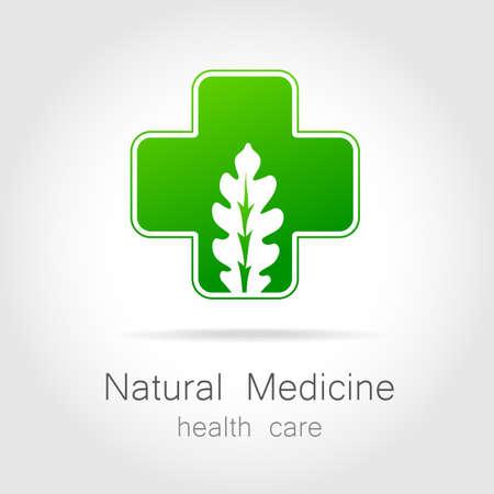 bio medicine: Natural medicine - a sign of eco bio treatment. Template for logotype alternative medicine, eco medicines, bio supplements, homeopathy, etc. Illustration