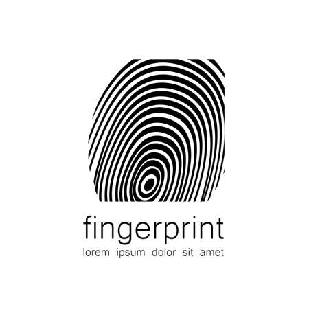 thumbprint: Fingerprint - the template for a logo. Symbol fingerprint - a sign of identification, preservation and protection.