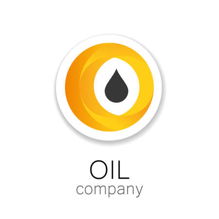 combustible: Chemical and oil industries. Logo Design. Illustration