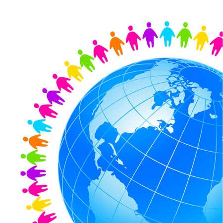 diversidad: Personas de todo el mundo. Concepto Plantilla para globales organizaciones, empresas, fundaciones, asociaciones, sindicatos. Vectores