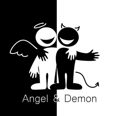 Angels and Demons - symbols of good and evil.
