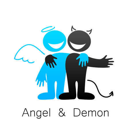 good evil: Angels and Demons - symbols of good and evil.