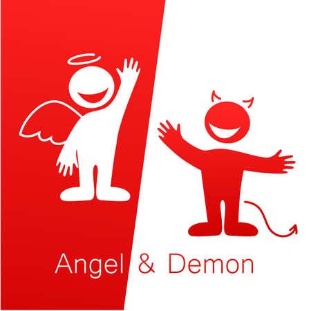 teufel engel: Angels and Demons - Symbole des Guten und Bösen. Illustration