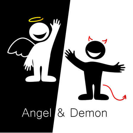 talking: Angels and Demons - symbols of good and evil.
