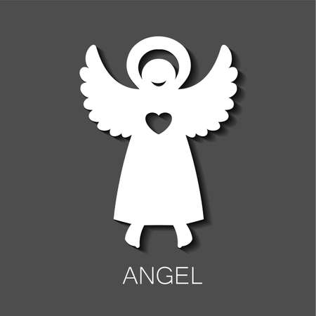 angels in heaven: Angel - symbol of love, hope, care, Christmas. Illustration