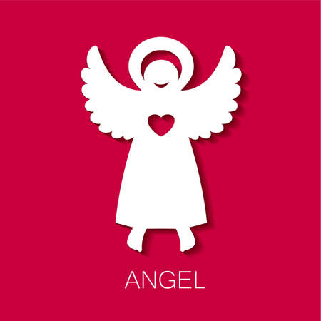 care: Angel - symbol of love, hope, care, Christmas. Illustration