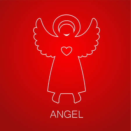 christmas symbol: Angel - symbol of love, hope, care, Christmas. Illustration