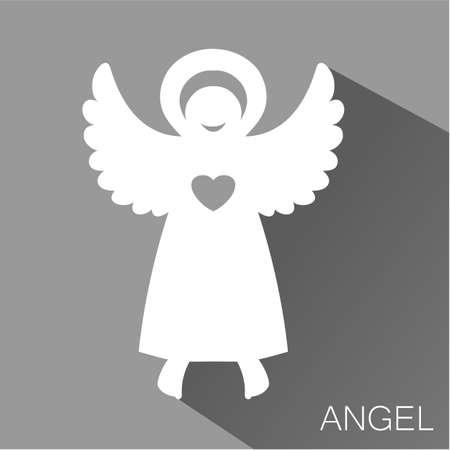 aureole: Angel - symbol of love, hope, care, Christmas. Illustration