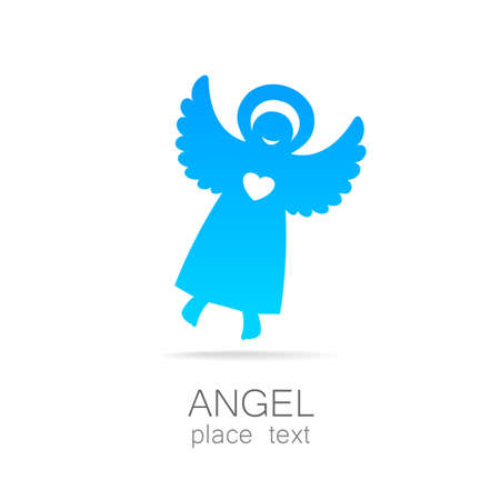 to care: Angel - symbol of love, hope, care, Christmas. Illustration