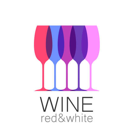 sommelier: Wine - template logo for the bar, the restaurant, the wine list, the menu, the sommelier.
