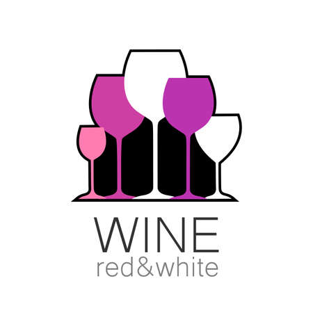 sommelier: Logotipo de la plantilla para el bar, el restaurante, la carta de vinos, el men�, el sommelier - Vino. Vectores