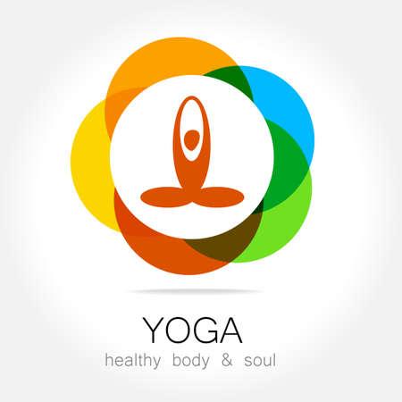 yoga: Yoga - template logo. Sign of yoga asana.