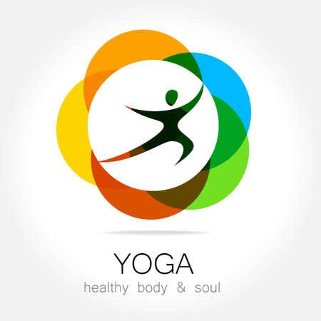 lotus pose: Yoga - template logo. Sign of yoga asana.