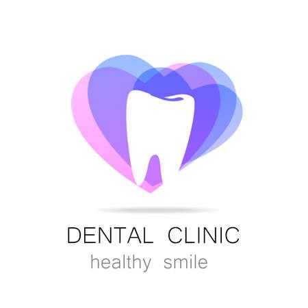 logo medicina: Clínica Dental - logotipo de la plantilla.