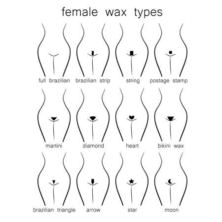 Bikini design - female wax types Illustration