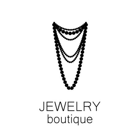 bijouterie: Jewelry - template logo for jewelry salon, manufacture of jewelry, brand jewelry. Illustration