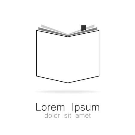libro abierto: El libro - un símbolo del conocimiento. Logotipo para instituciones educativas, bibliotecas, escuelas, colegios, universidades, librerías. Vectores