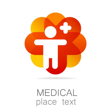 Medical logo - the concept for sign a medical institution, a center, foundation, organization, association, hospital.