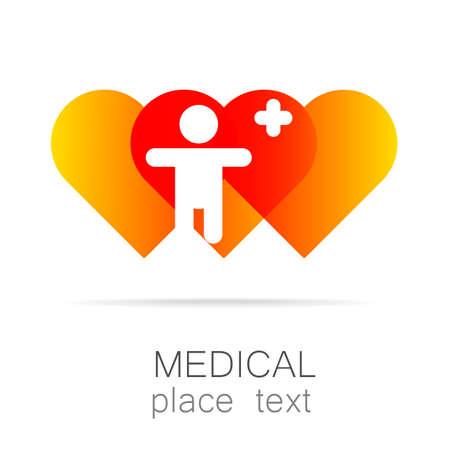 Insignia médica - el concepto de signo de una institución médica, centro, fundación, organización, asociación, hospital.