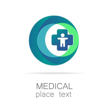 Medisch embleem - het concept voor teken van een medische instelling, een centrum, stichting, organisatie, vereniging, het ziekenhuis.