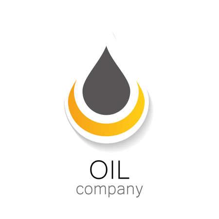 huile: industries chimiques et p�troli�res. Cr�ation de logo.