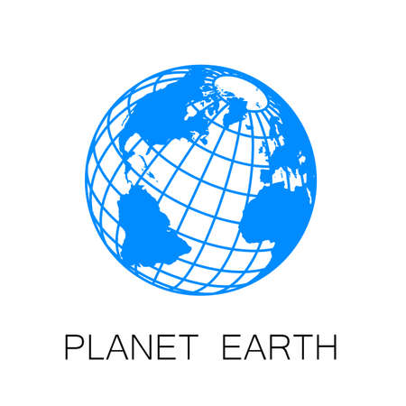 Sign of the Earth. Template logo for the company, association, foundation, union.