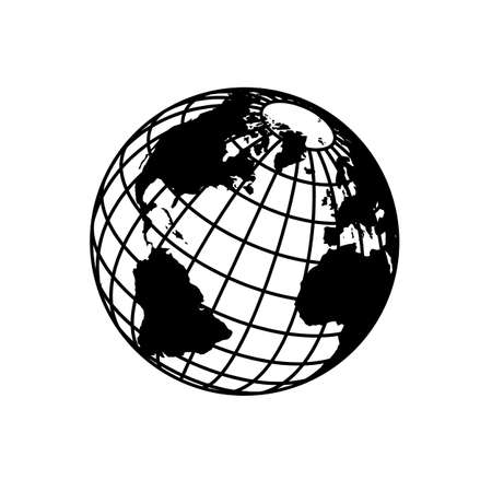 globe logo: Sign of the Earth. Template logo for the company, association, foundation, union.
