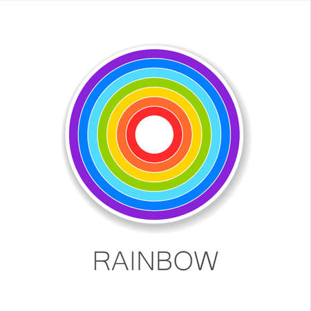 abstract rainbow: Rainbow - template logo. Symbol of happiness and success.