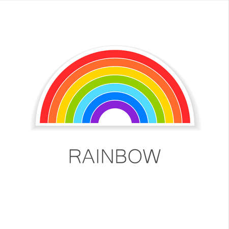 happiness or success: Rainbow - template logo. Symbol of happiness and success.