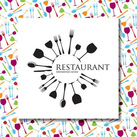 Restaurant - logo en huisstijl. Template design. Stock Illustratie