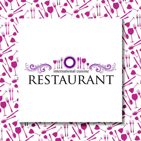 Restaurant - Logo und Corporate Design. Template-Design. Illustration