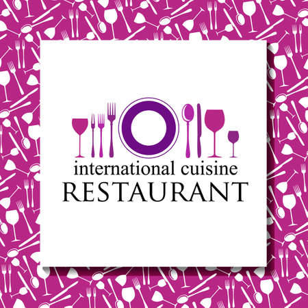 decorative frames: Restaurant - logo and corporate design. Template design.