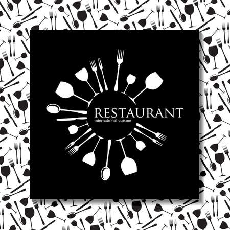 Restaurant - logo en huisstijl. Template design. Stock Illustratie