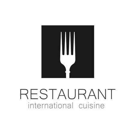 International restaurant - template logo. 일러스트