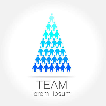 manager team: Sign of the leader. Symbol leader in team. Director, boss, top manager, the manager, the owner, led a successful team.