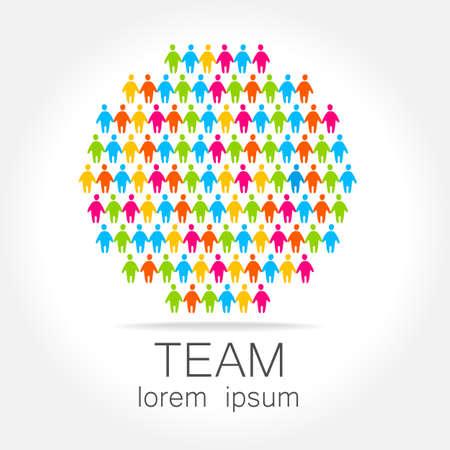 Team logo template. Social media marketing idea.   Corporate symbol. Social network. 矢量图像