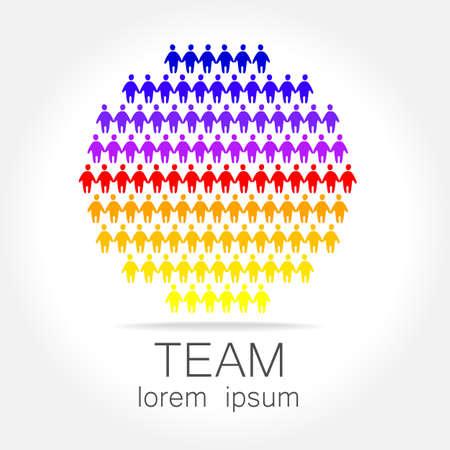 corporate team: Team logo template. Social media marketing idea.   Corporate symbol. Social network. Illustration