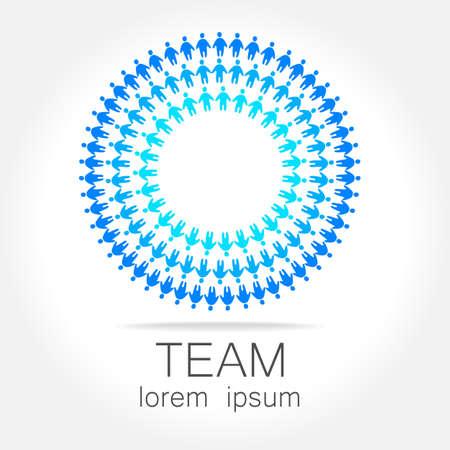 network logo: Team logo template. Social media marketing idea.   Corporate symbol. Social network. Illustration
