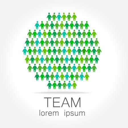 team: Team logo template. Social media marketing idea. Corporate symbol. Social network.The symbol of community and association. Illustration