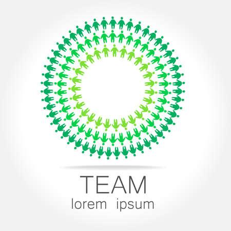 Team logo template. Social media marketing idea. Corporate symbol. Social network.The symbol of community and association. Vettoriali