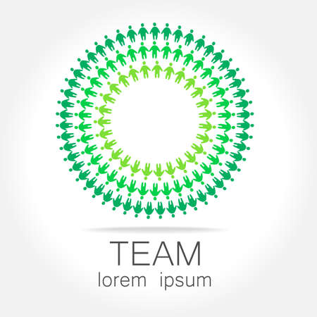 Team logo template. Social media marketing idea. Corporate symbol. Social network.The symbol of community and association. Stock Illustratie