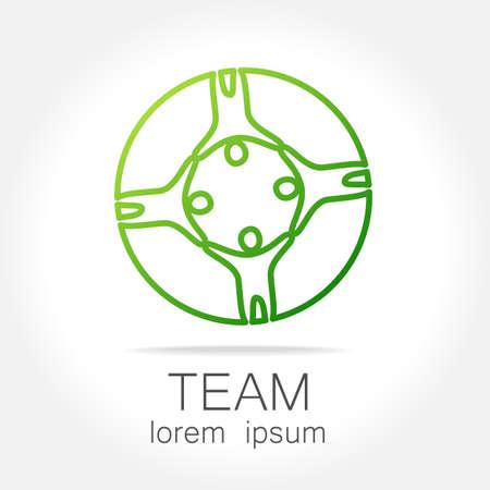 corporate team: Team logo template. Social media marketing idea. Corporate symbol. Social network.The symbol of community and association. Illustration