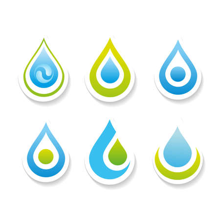 signs and symbols: Collection signs - water. Templates for logos, icons, symbols.