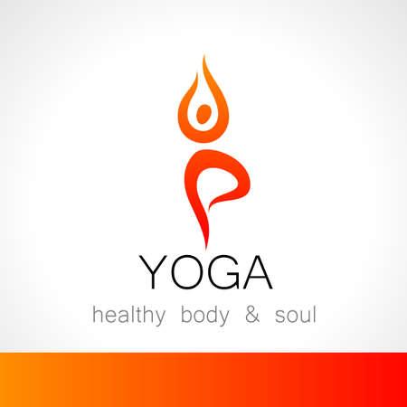 beauty care: Yoga logo - design template. Health Care, Beauty, Spa, Relax, Meditation, Nirvana concept icon.