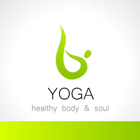 massage symbol: Yoga logo - design template. Health Care, Beauty, Spa, Relax, Meditation, Nirvana concept icon.