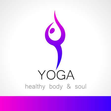 health spa: Yoga logo - design template. Health Care, Beauty, Spa, Relax, Meditation, Nirvana concept icon.