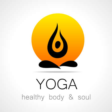 nirvana: Yoga logo - design template. Health Care, Beauty, Spa, Relax, Meditation, Nirvana concept icon.